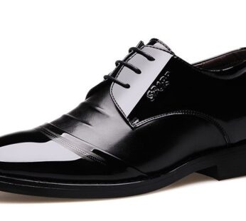 High Quality Leather Business Wedding Formal Flats Black Shoe