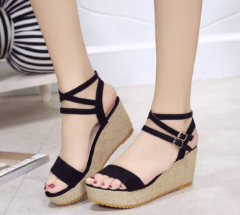 High Heels Wedge Shoes Lady Sexy Buckle Slope Sandals