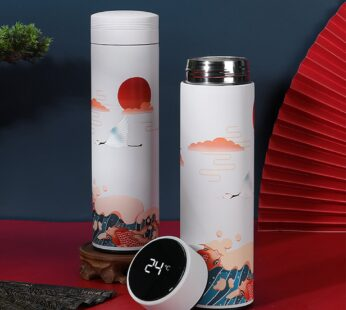 Classical Style Stainless Steel Vacuum Flask Water Bottle With Filter LED Display