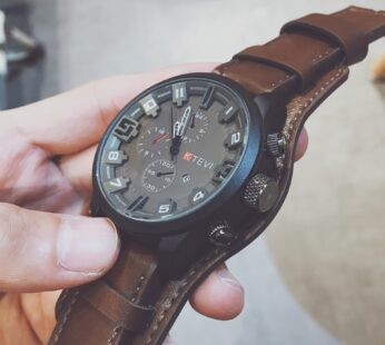 Hot Fashion Watch Men Large Dial Sport Watches Leather Strap Oversized Quartz Wrist Watch Army Military Clock Relogios Masculino