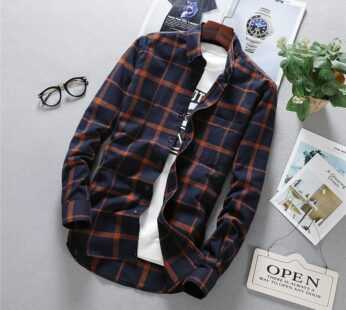 Mens Long Sleeve Shirt Solid Oxford Dress with Left Chest Pocket High-quality Male Casual Regular-fit Tops Button Down Shirts