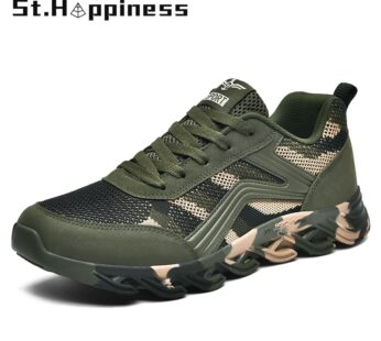 Camouflage Summer Men Mesh Lace-Up Sports Shoes