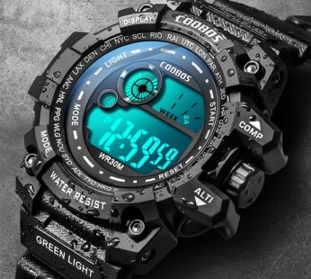 Cool Luminous Men Sport Watch High-end Silicone Strap Military Wrist Watch