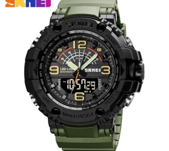 SKMEI Military 3 Times Watches Men Japan Chinese Movement Wristwatches Hour Shockproof Waterproof