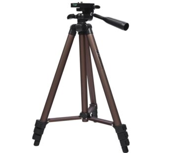 fosoto Professional Camera Tripod Stand Portable Aluminum Tripods With Holder for Canon Nikon Sony DSLR Camera Camcorder Phone